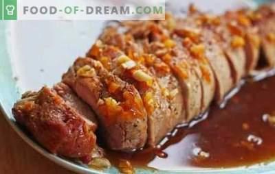El cerdo en salsa de miel es un plato delicioso. Cómo cocinar carne de cerdo en miel, mostaza y salsa de miel y naranja