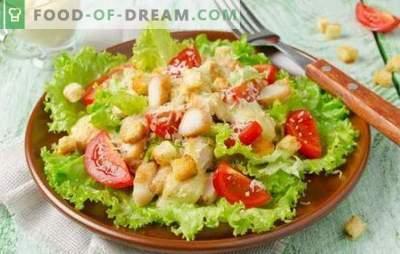 Ensalada César con mayonesa: desde recetas sencillas hasta exquisitas. Cómo cocinar una deliciosa ensalada césar con mayonesa
