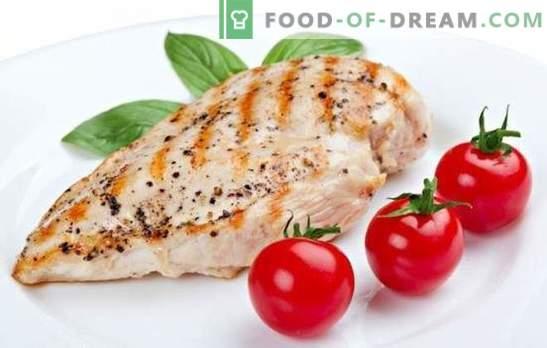 Pecho dietético: un producto favorito de los atletas y la pérdida de peso. Una selección de recetas para la dieta del pecho figura delgada