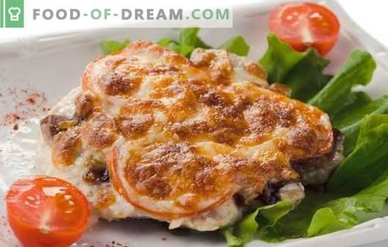 Cerdo real - un plato versátil! Recetas de carne de cerdo caseras con champiñones, tomates, papas, piñas, queso