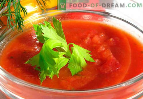 Gazpacho - recetas probadas. Como hacer el gazpacho correctamente y sabroso.