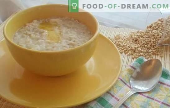 Gachas de trigo en un multicooker es la base de una dieta saludable. Las mejores recetas para gachas de trigo en una olla de barro sobre agua y leche