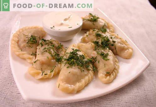 Teigtaschen mit Pilzen - die besten Rezepte. Wie man richtig und lecker Knödel mit Pilzen zu Hause gart.