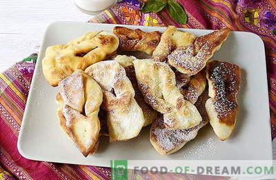 Verguny van grootmoeder (weelderig kreupelhout) op kefir