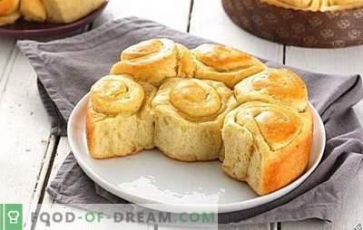 Bollos en el agua - pasteles económicos y sabrosos. Una selección de las mejores recetas para bollos en el agua: magra, miel, chocolate y con rellenos