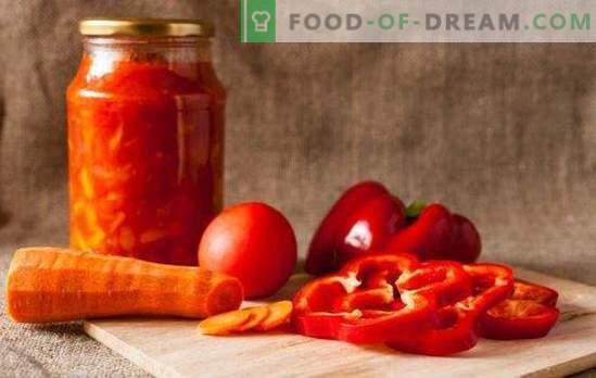 Calentará el frío y agregará una chispa: adjika de tomates y pimientos para el invierno. Recetas tradicionales e inusuales adjika de tomates y pimientos para el invierno