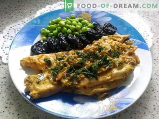 Foto-receta para cocinar carne (filete) en crema. Impresionante filete de pollo en salsa de crema en 25 minutos: una receta paso a paso