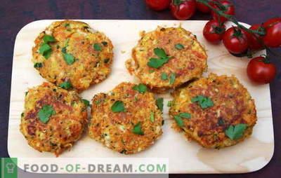 Chuletas vegetarianas: cuidan la salud de sus seres queridos. Recetas para chuletas vegetarianas hechas de verduras, cereales, legumbres, etc.