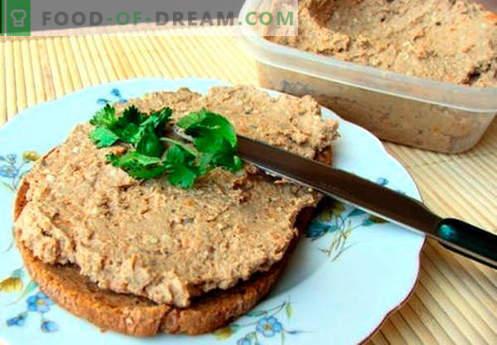 Paté de carne - las mejores recetas. Cómo cocinar correctamente y sabroso la carne de paté.