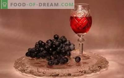 La tintura de uvas en casa no es vino! Recetas de tintura fragante y brillante de uvas en casa
