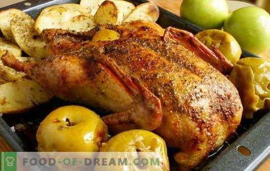 ¡El ganso en el horno con papas es el rey en la mesa navideña! ¿Cómo se puede cocinar la gallina en el horno con papas enteras y en trozos