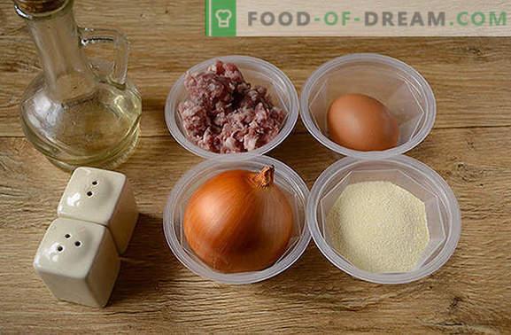 Albóndigas en una sartén: albóndigas para pasta, avena, verduras y puré de papas. Receta fotográfica paso a paso de cocinar albóndigas en una sartén durante media hora