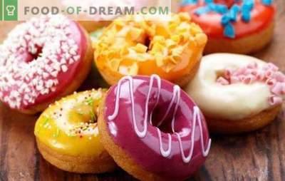 Donas estadounidenses - son donats brillantes! Recetas para varios donuts americanos con glaseado y rellenos