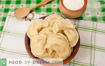 Empanadillas con patatas y manteca de cerdo es una verdadera alegría ucraniana. Recetas secretas para cocinar albóndigas con papas y tocino