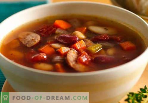 Sopa de salchichas - recetas probadas. Cómo cocinar correctamente y sabrosa la sopa con salchicha.