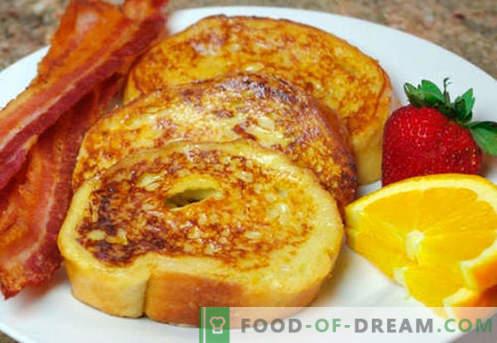 Tostadas de huevo - las mejores recetas. Cómo cocinar adecuadamente y sabroso los picatostes con huevo.