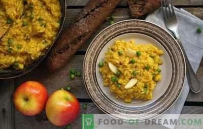 Risotto de Cuaresma - Pilaf italiano sin carne! Recetas de risotto magro con champiñones, verduras, aguacates, peras, calabaza