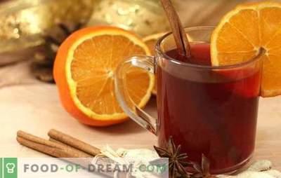 Vino caliente con naranja: ¡la bebida más invernal, fragante y cálida! Cocinando todo el vino caliente con naranjas
