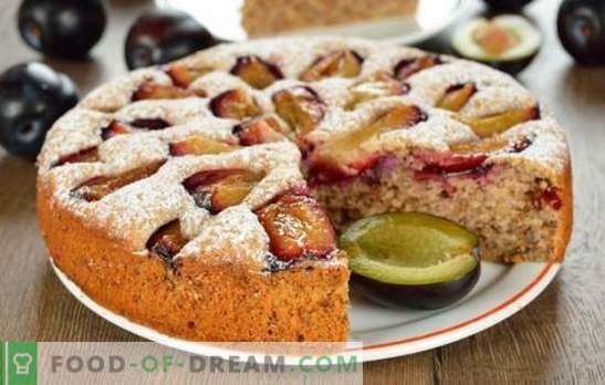 Torte mit Pflaumen - man wird nicht genug sein! Eine Auswahl verschiedener Kuchen mit Zwetschgen aus Hefe, Mürbteig, Blätterteig und flüssigem Teig