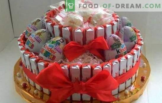DIY roku darbs bēru kūkas! Dāvanu kūku izgatavošana no bērnudārziem ar savām rokām jebkurai brīvdienai un vecumam
