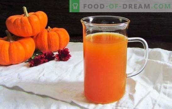 ¡El jugo de calabaza y manzana es un milagro, sin brujería! Haga un stock de jugo de calabaza y manzanas de acuerdo con las recetas probadas