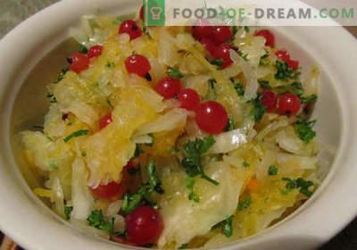 Ensalada en escabeche - cinco mejores recetas. Cómo cocinar adecuadamente y sabrosa ensalada en escabeche.