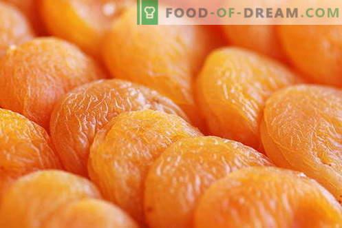 Albaricoques secos - descripción, propiedades, uso en la cocina. Recetas con albaricoques secos.