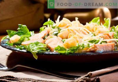 Insalata con funghi e formaggio - le migliori ricette culinarie. Come correttamente e gustosa insalata cotta con funghi e formaggio.