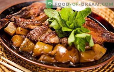 ¿Cómo cocinar un pato con patatas en el horno? Muy sabrosas recetas de pato con papas en el horno, no solo para las fiestas