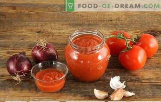 Los tomates picados para el invierno son la mejor manera de procesar toda la cosecha. Las mejores recetas de tomates a través de la picadora de carne para el invierno.