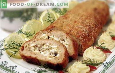 Pastel de carne hecho de carne picada - ¡inusual de lo habitual! Recetas de diferentes rollos de carne de carne picada en el horno: con huevos, champiñones, queso, tomate