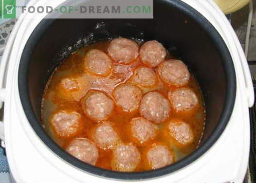 Albóndigas en las recetas de cocción lenta. Cómo cocinar adecuadamente y cocinar albóndigas en una olla de cocción lenta.