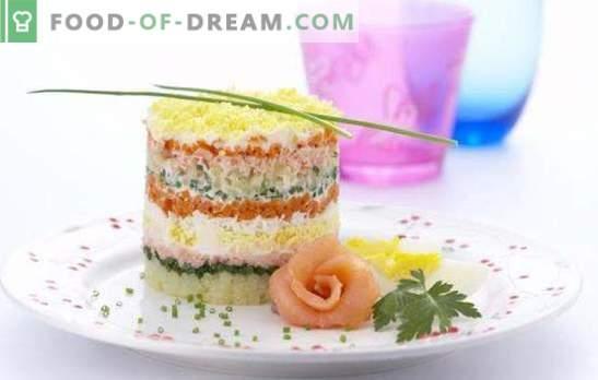 Ensalada de pescado con arroz, ¡tanto entre semana como en días festivos! Ensaladas de pescado con arroz de pescado enlatado, fresco, ahumado y salado