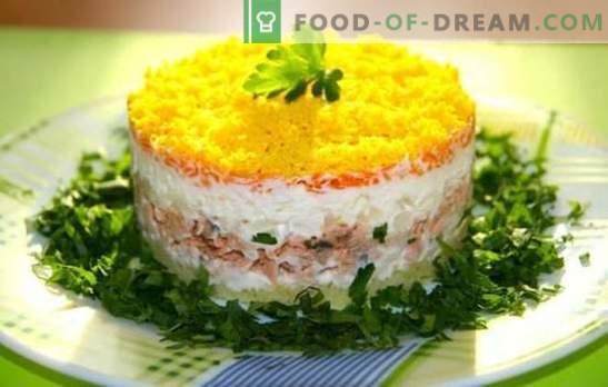 ¡La ensalada de mimosa con pescado enlatado ya es un clásico! Cómo cocinar una ensalada