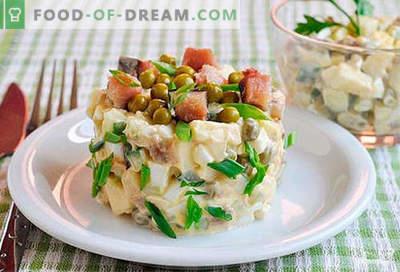 Ensalada de caballa - las mejores recetas. Cómo preparar correctamente y sabroso una ensalada de caballa.