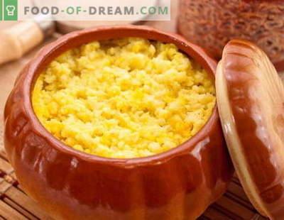 Gachas de calabaza - las mejores recetas. Cómo cocinar correctamente y sabroso las gachas de calabaza.