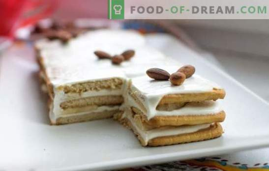 ¡El pastel de plátano sin hornear con galletas y leche condensada es sabroso! Cómo cocinar rápidamente un pastel de plátano sin hornear con galletas y leche condensada