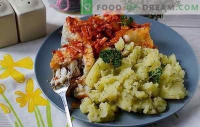 Merluza bajo vegetales: ¡sabroso, caliente y frío! Receta paso a paso del autor con una foto: cómo cocinar una merluza debajo de un abrigo de piel vegetal