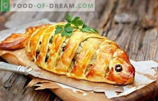 Placinta rapidă de pește - o găsire pentru gospodinele aglomerate! Gătit prăjituri rapide pește pe kefir, maioneză, smântână, patiserie