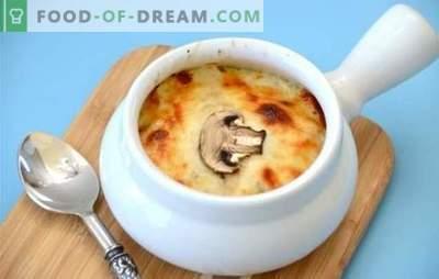 Ciuperci în ghivece - bucurie de ciuperci! Rețete pentru mâncăruri de șampanie în vase cu carne, cartofi și alte legume