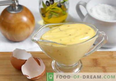 Mayonesa casera - las mejores recetas. Cómo cocinar correctamente y sabrosa mayonesa casera.