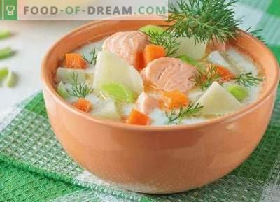 Супа од лосос - најдобри рецепти. Како правилно и вкусно да готви супа од лосос.
