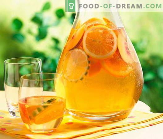 Kompozitas iš apelsinų - geriausi receptai. Kaip tinkamai ir skaniai kompotą apelsinų.