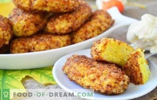 Chuletas de coliflor: ¡escasas, sabrosas y saludables! Recetas de cuaresma y ordinarias para chuletas de coliflor
