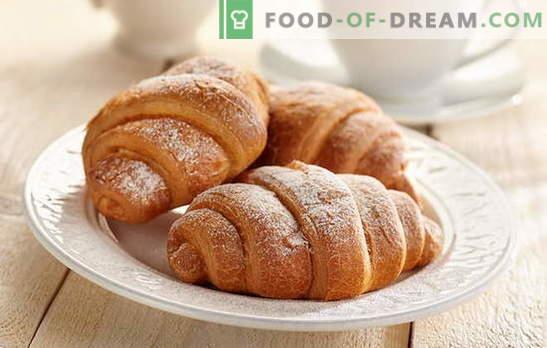 Croissants con leche condensada, ¡tan deliciosos! Croissants con recetas de leche condensada: de levadura, shortcake, masa de requesón
