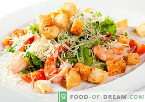 Salata z morskimi sadeži - Dokazani recepti. Kako pravilno in okusno kuhana morska solata.