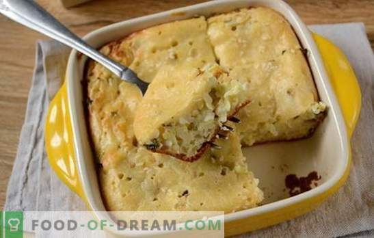 ¡La tarta de gelatina en crema agria es un gran bocadillo para una gran compañía! Receta fotográfica paso a paso del autor de relleno de pastel con cebollas y huevos en crema agria