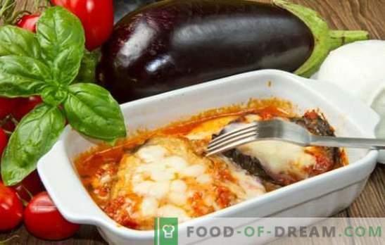 Lasanha com berinjela - oh, mamma mia! Receitas Lasanha italiana com berinjela e carne picada, tomate, cogumelos, abobrinha