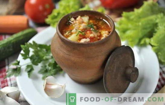 Sopa na panela no forno - o resultado é surpreendente! Receitas de sopas em panelas no forno: vegetais, carne, frango, cogumelo