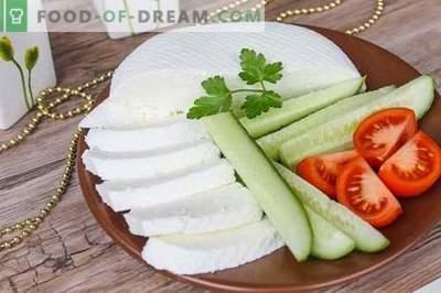Brânză de brânză sau feta acasă. Cum de a face brânză de casă este gustos și ieftin.